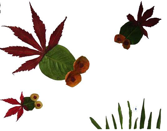 树叶粘贴画怎么做